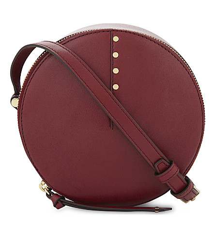 SANDRO Bonnie leather cross-body bag (Red