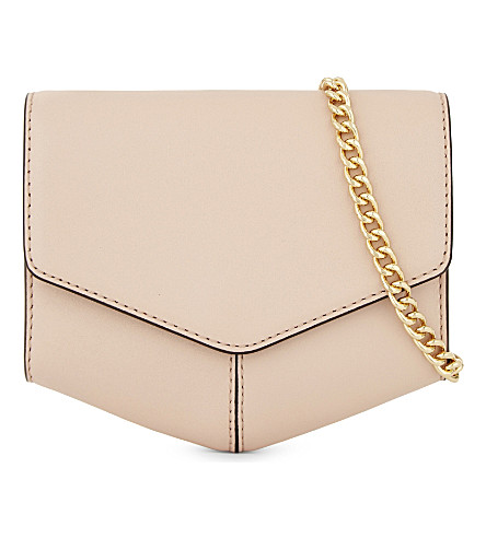 SANDRO Lou leather envelope clutch (Light+pink