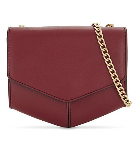 SANDRO Lou petite leather cross-body bag (Red