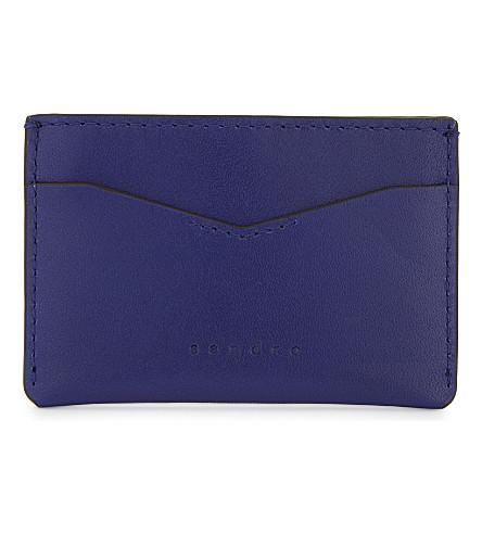 SANDRO Leather card holder (Tu