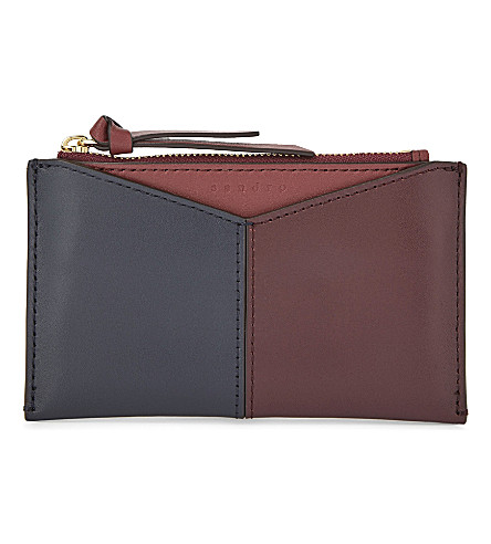 SANDRO Leather coin pouch (Tu