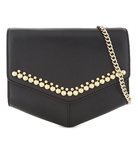 SANDRO Lou leather cross-body bag (Black