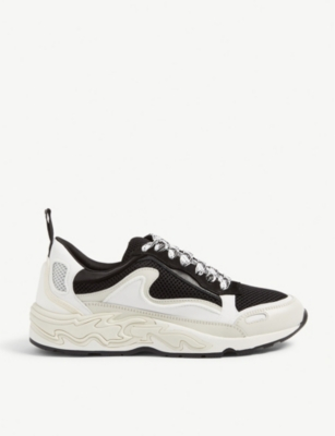 Flame leather and mesh trainers(8117300)