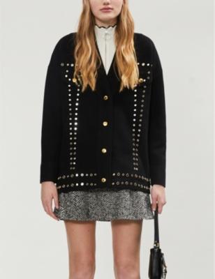 Bamo embellished knitted cardigan