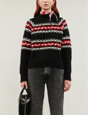 Jaquie stretch-knit jumper
