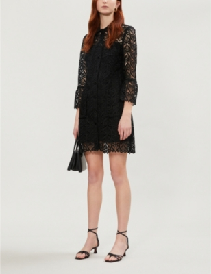 Sylvia collared lace shirt dress