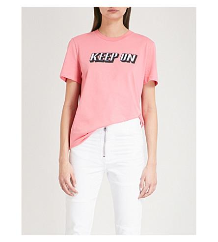 SANDRO Keep On Dancing cotton-jersey T-shirt (Malabar