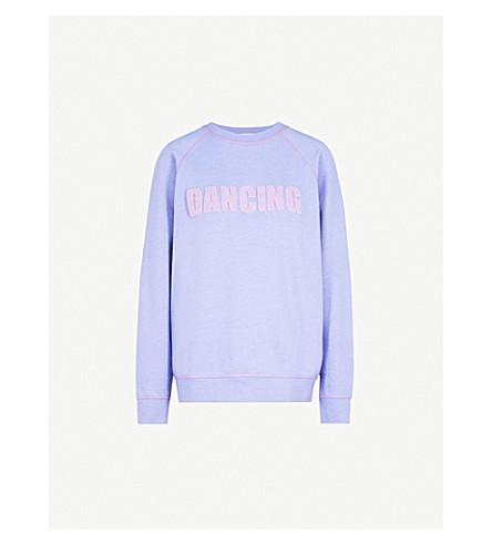 SANDRO Dancing cotton-blend sweatshirt (Mauve