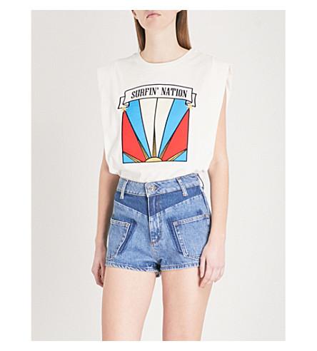 SANDRO Surfin' Nation cotton-jersey T-shirt (Blanc