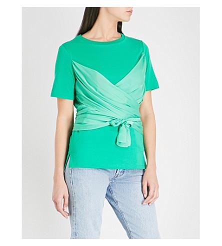 SANDRO Cotton T-shirt (Vert