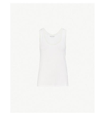 SANDRO Ribbed stretch-jersey vest top (Blanc