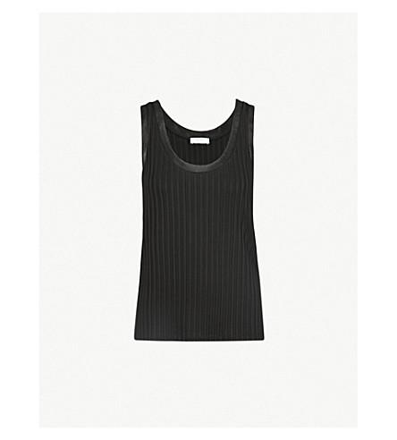 SANDRO Ribbed stretch-jersey vest top (Noir