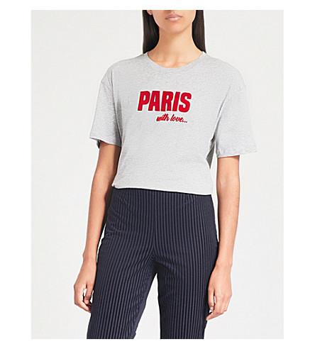 SANDRO 巴黎平纹针织棉 T 恤 (皮诺