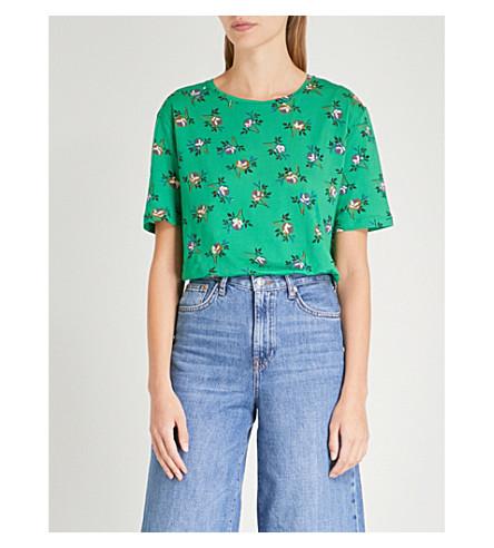 SANDRO Oranie cotton T-shirt (Green