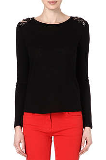 SANDRO Lace panel top
