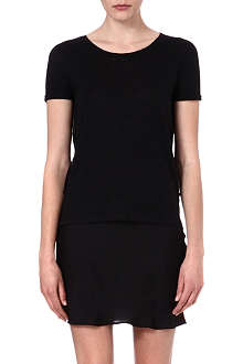 SANDRO Sheer back t-shirt
