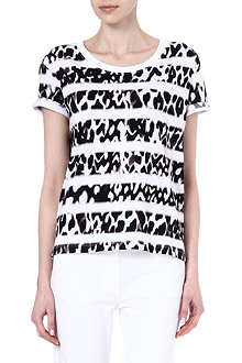 SANDRO Tintin print and stripe t-shirt