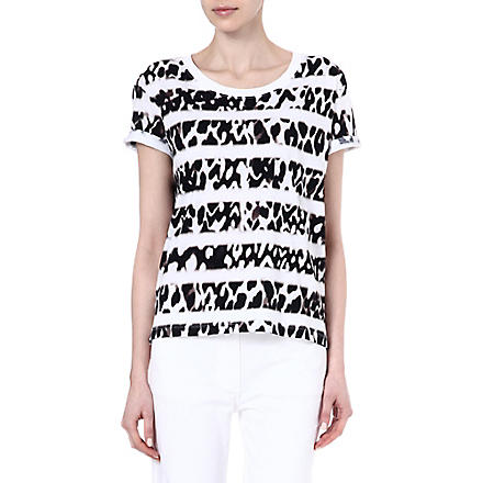 SANDRO Tintin print and stripe t-shirt (White