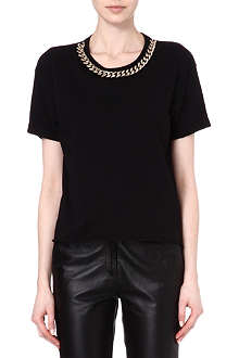 SANDRO Toto chain collar t-shirt