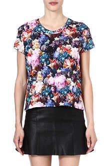 SANDRO Tendresse floral cotton t-shirt