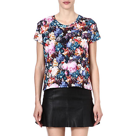 SANDRO Tendresse floral cotton t-shirt (Pink
