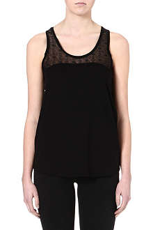 SANDRO Tumulte lace yoke top