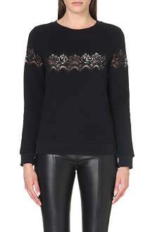 SANDRO Torr long sleevesd sweatshirt