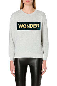 SANDRO Cotton jersey sweatshirt