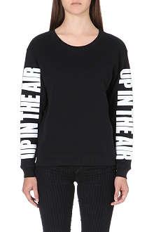 SANDRO Timi slogan sleeve sweatshirt