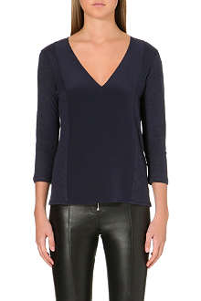 SANDRO Trush contrast sleeve top