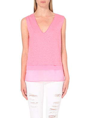 SANDRO Sleeveless linen top
