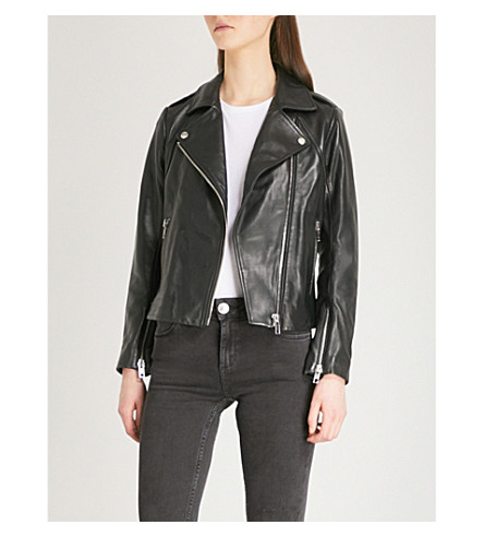 SANDRO Veinarde biker jacket (Black
