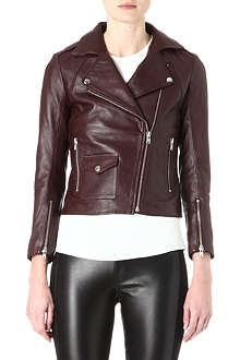 SANDRO Veinarde leather biker jacket