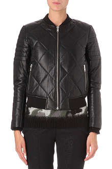 SANDRO Virage leather bomber jacket