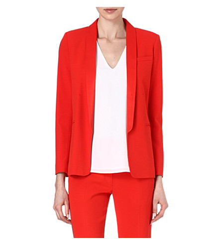 SANDRO Virgule suit blazer (Red