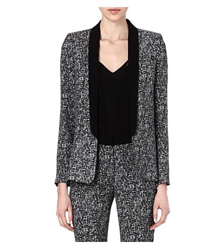 SANDRO Venise speckle print blazer (Black