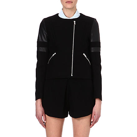 SANDRO Verseau stretch-cotton jacket (Black
