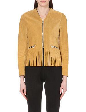SANDRO Vamia suede jacket