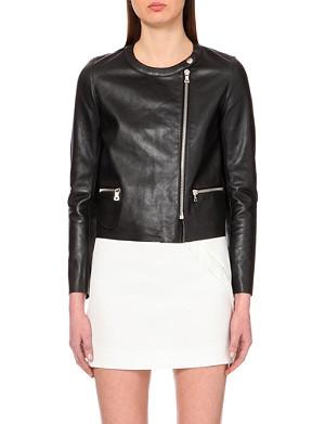 SANDRO Viviane leather jacket