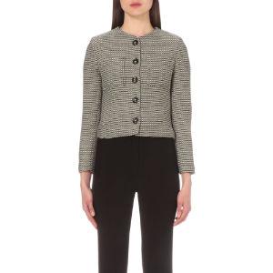 Veste geometric-jacquard jacket
