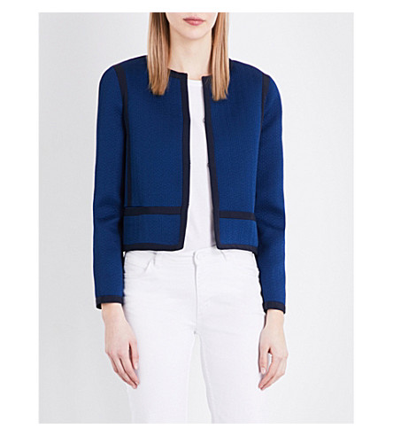 SANDRO Cropped woven jacket (Egyptian+blue