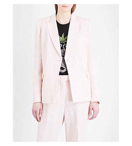 SANDRO Slim-fit woven blazer (Pink
