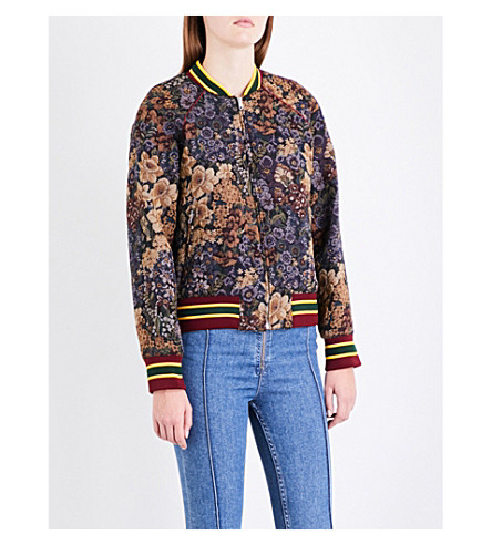 SANDRO Floral jacquard jacket (Multi-color