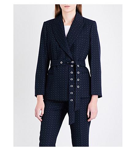 SANDRO Dotted twill blazer (Navy+blue