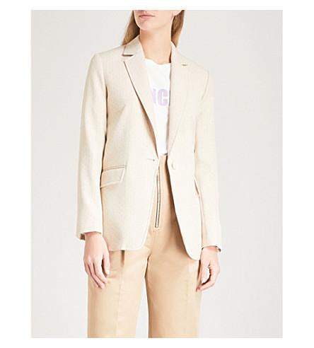 SANDRO Pinstriped woven jacket (Sable