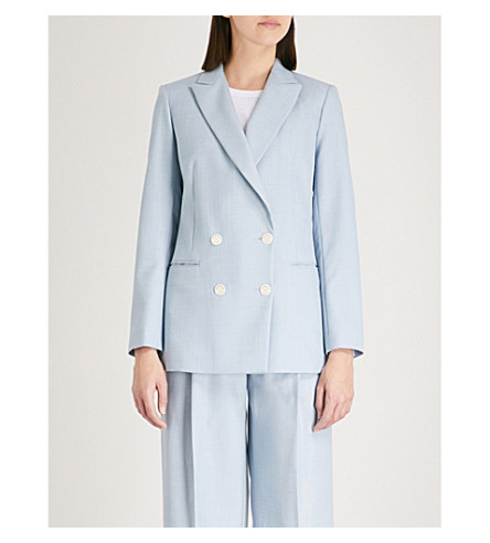 SANDRO Double breasted jacket (Bleu+ciel