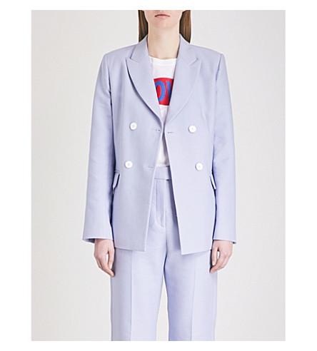 SANDRO Double-breasted cotton-blend jacket (Lavande
