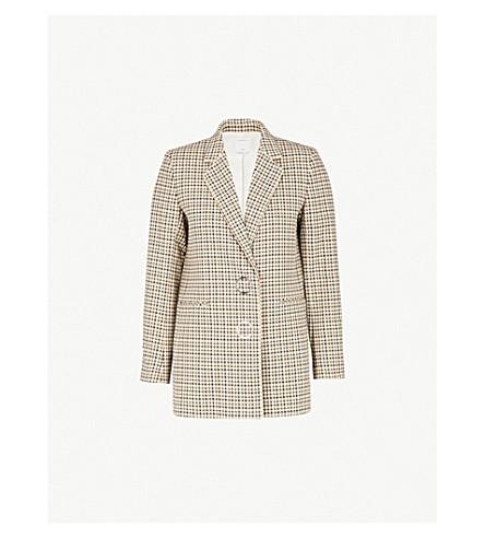 SANDRO Zack check-print cotton blazer (Multicolore