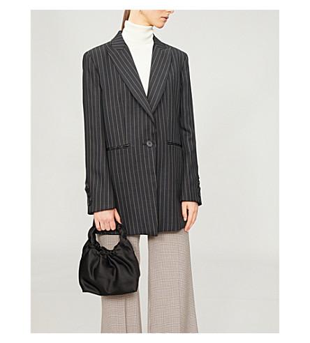 SANDRO 一件细条纹型编织夹克 (黑色