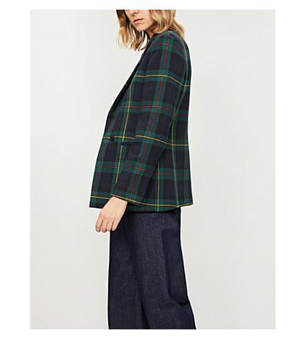 Tartan check woven jacket(V7258H)